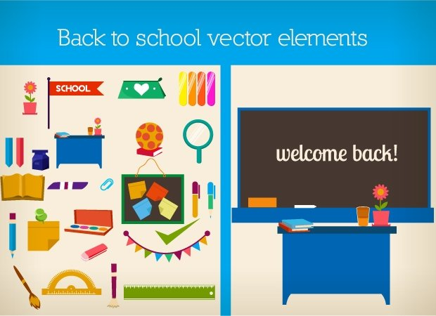 back-to-school--flat-vector-elements-small