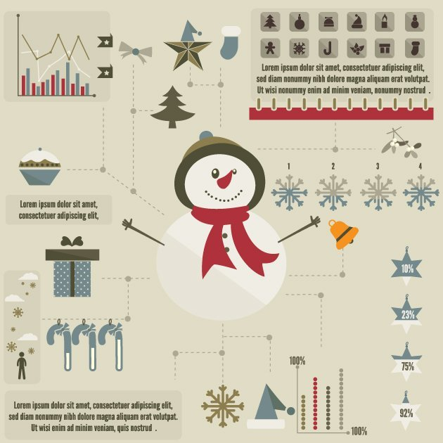 designtnt-vector-christmas-infographic