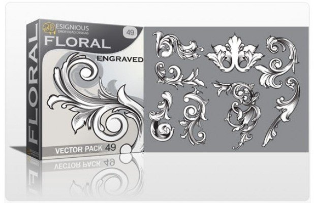 floral-engraved-vector-pack-49