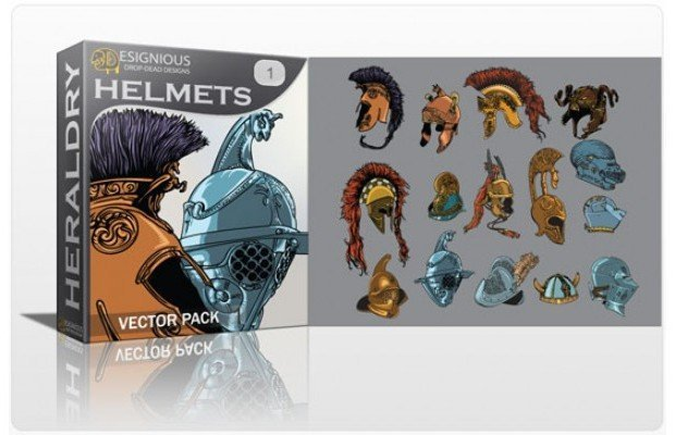 helmets-vector-pack-1
