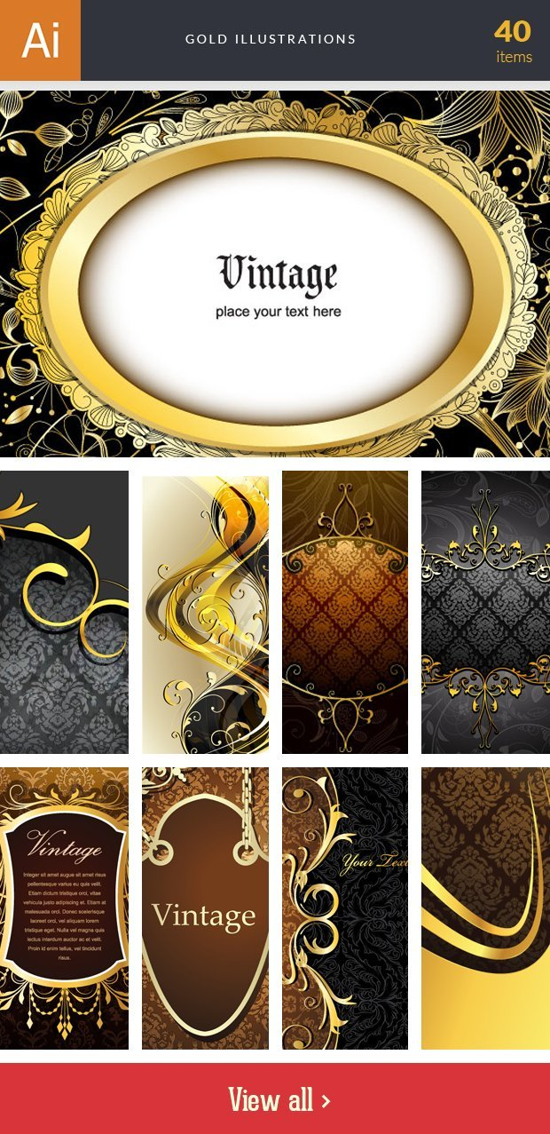 inkydeals-vector-gold-illustrations-small