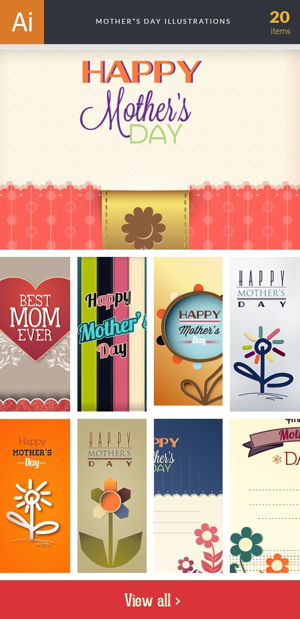 inkydeals-vector-mother's day-illustrations-small