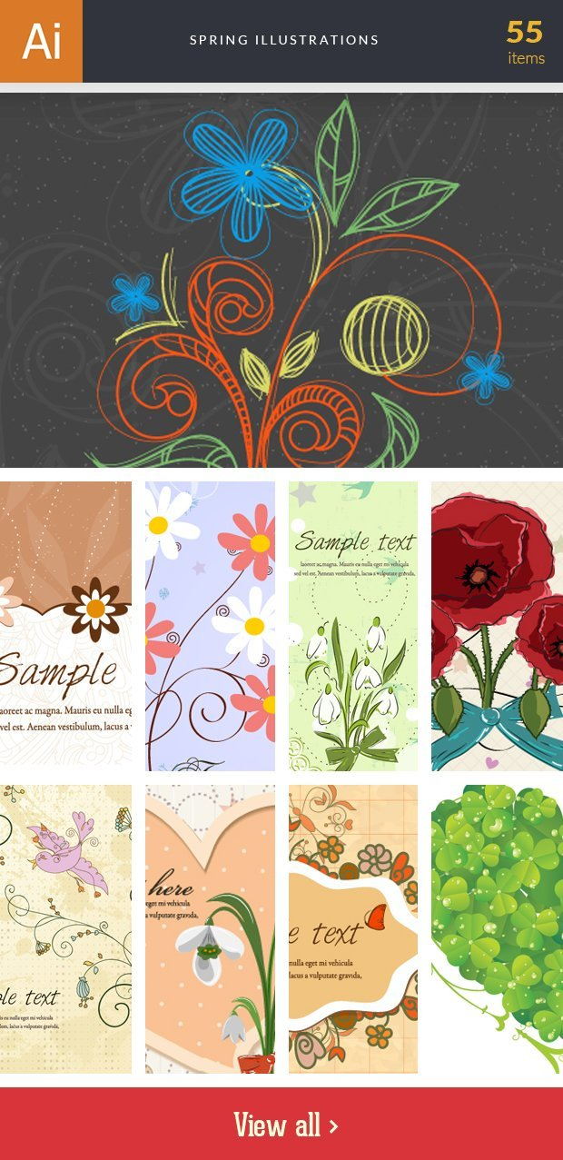 inkydeals-vector-spring-illustrations-small