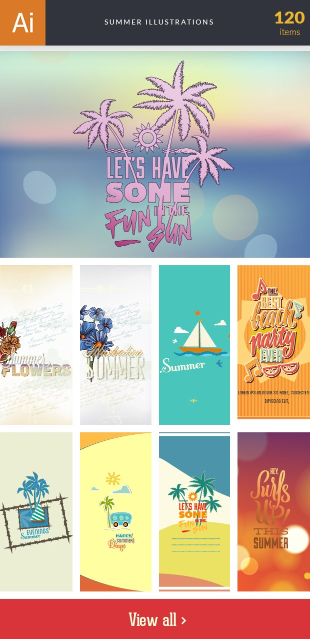 inkydeals-vector-summer-illustrations-small
