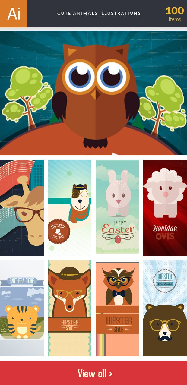 inkydeals-vector- cute-animals-illustrations-small
