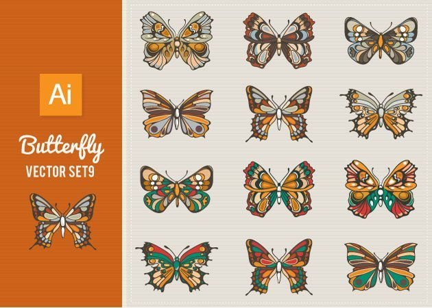 Designtnt-Vector-Butterfly-Set 9-small