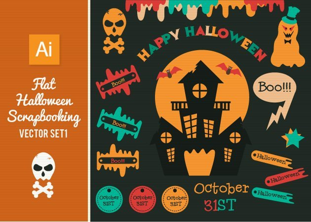 Designtnt-Vector-Flat-Halloween-Scrapbooking-Set1-small