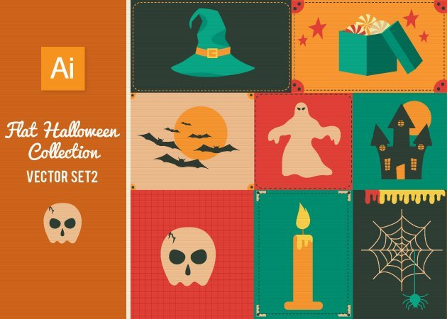Designtnt-Vector-Flat-Halloween-Set-2-small