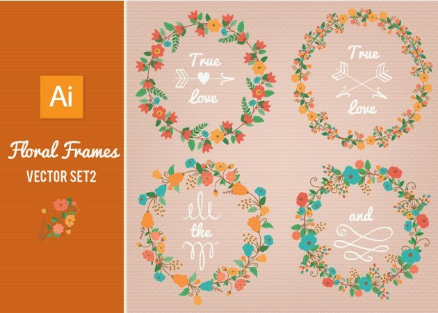 Designtnt-Vector-Floral-Frames-Set-2-small