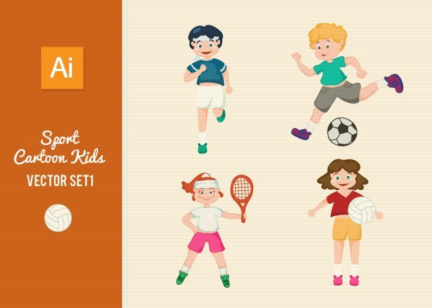 Designtnt-Vector-Sports-Cartoon-Kids-Set1-small