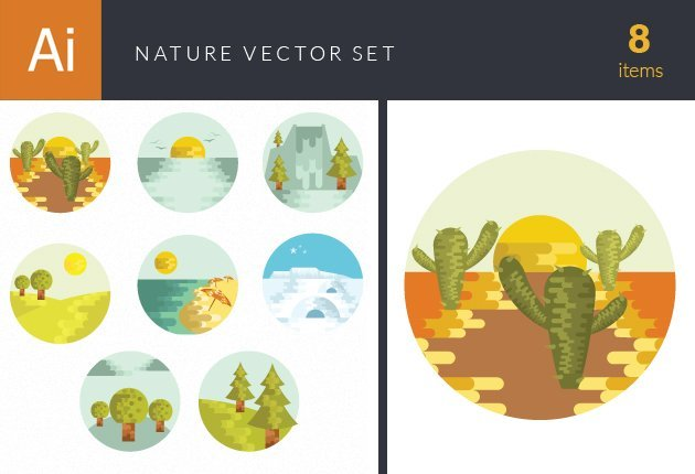 design-tnt-vector-Nature Landscapes Set 1-small