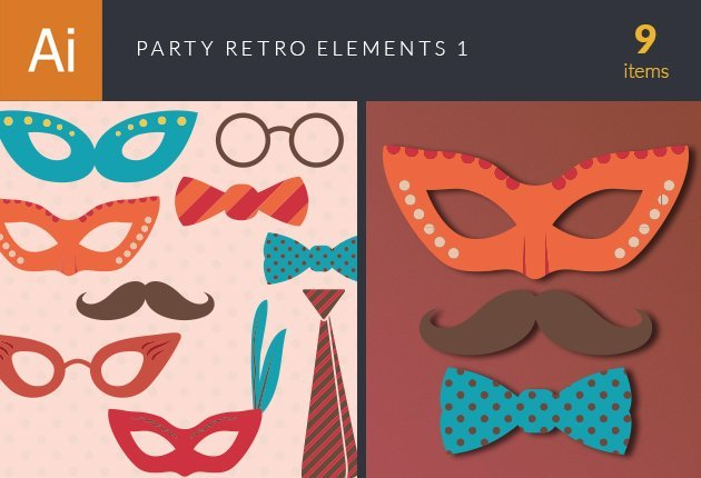 design-tnt-vector-party-retro-elements-set-1-small