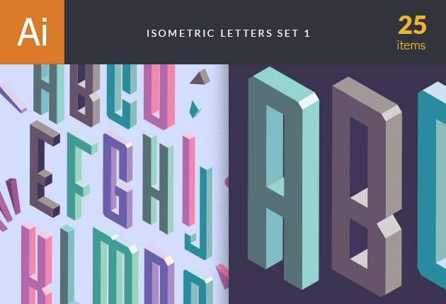 designtnt-vector-isometric-alphabet-small