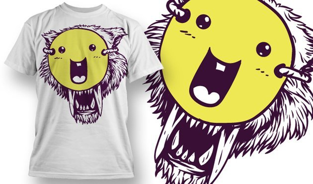 funny t-shirt design with tiger