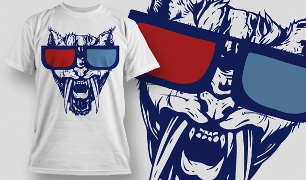 funny t-shirt design with panther