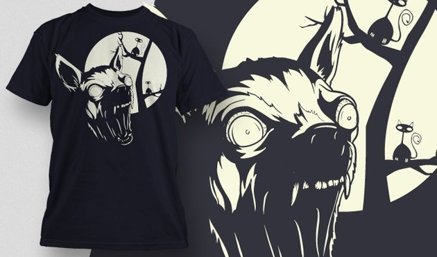funny t-shirt design with angry chihuahua
