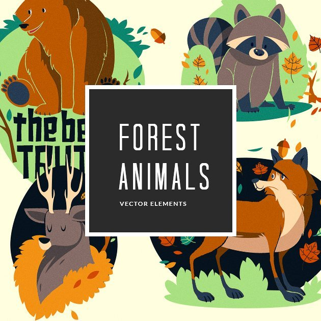 designtnt-vector-forest-animals-small