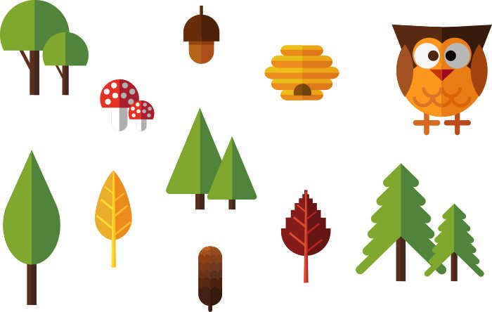 28-vectorstock-forest_elements