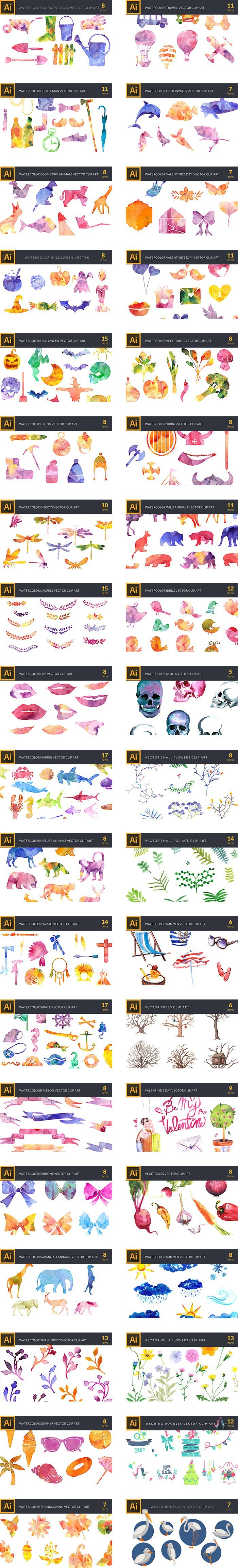preview-158 Premium Vector Clip Art Packs-4