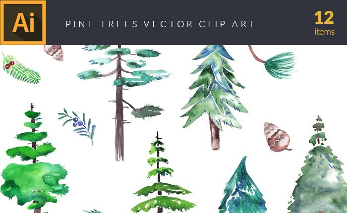 vector-watercolor-pinetrees-small