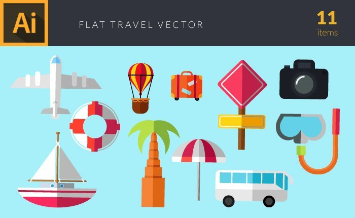 Illustrated flat vector