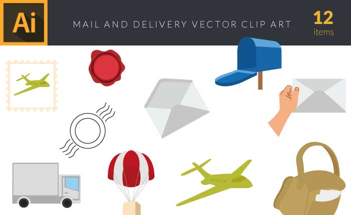 design-tnt-mail-and-delivery-set-1-small-preview