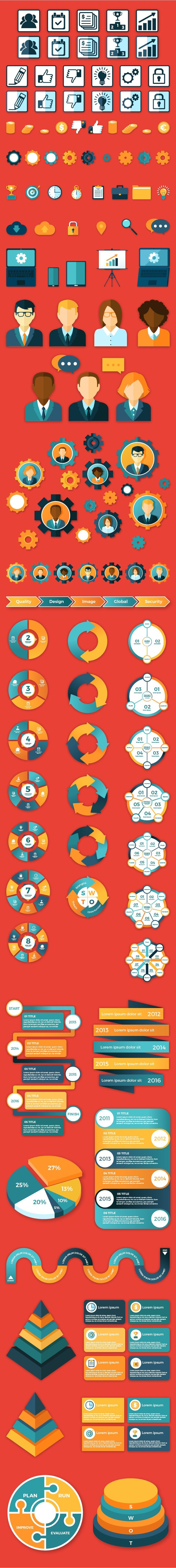 Business Infographic Elements Set 1