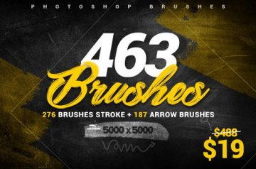 463 photoshop brushes collection