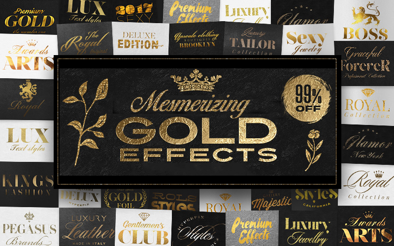 Gold effects bundle