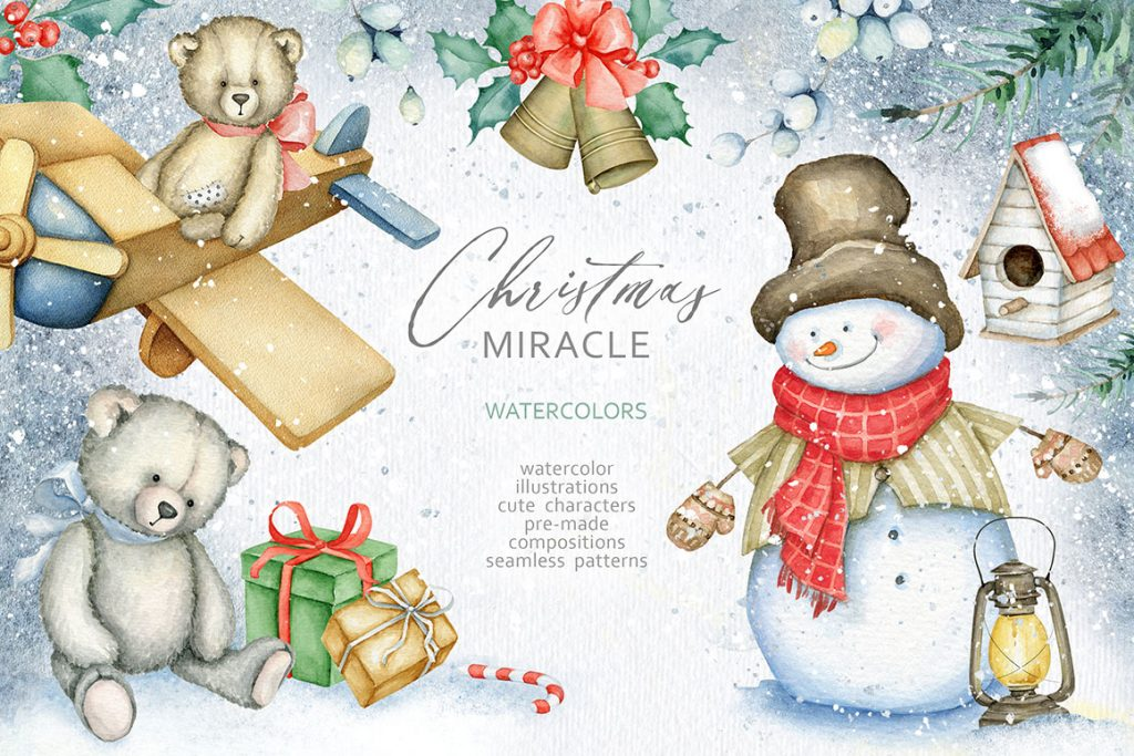 Christmas Miracle Watercolors Bundle