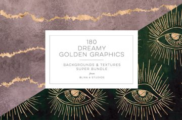 Dreamy Golden Graphics