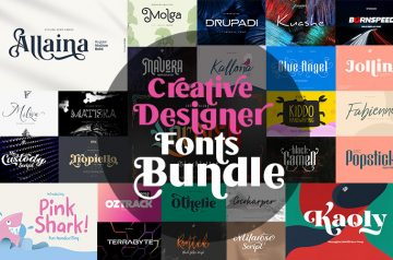 Creative designer fonts