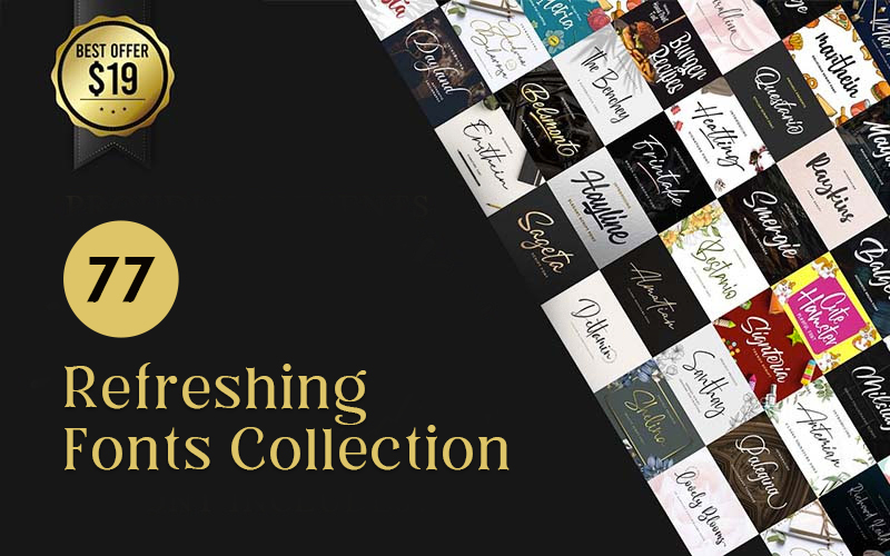 77 refreshing fonts collection