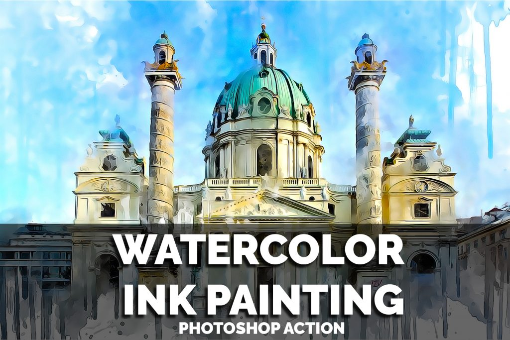 Watercolor Ink Painting Photoshop Action – CS5 to CC2020