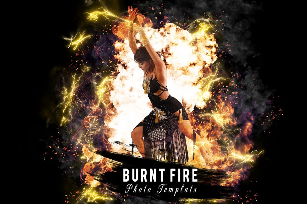 Burnt Fire Photo template