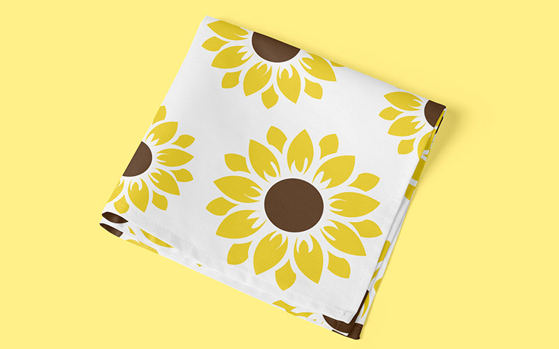 sunflower svg wrapping paper