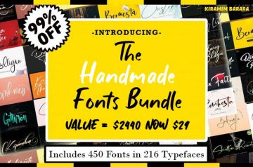 The Handmade Fonts Bundle