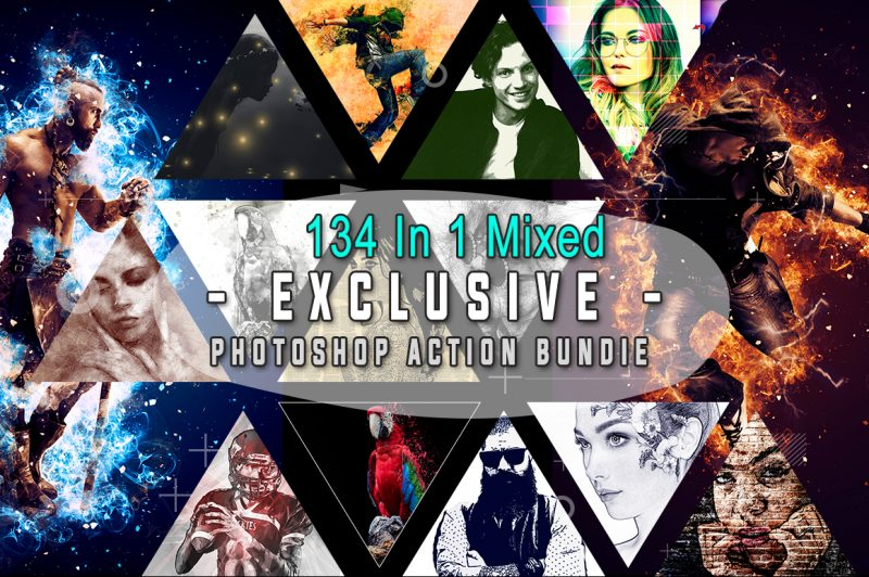mixed photoshop actions